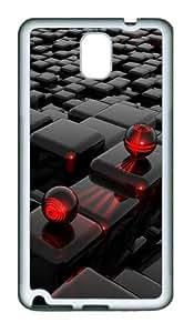 meilz aiai3D Cube TPU Custom Samsung Galaxy Note 3/Note III/N9000 Case and Cover - Whitemeilz aiai