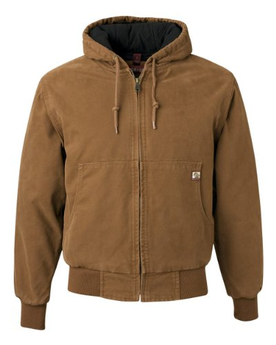 Dri-Duck Men's 5020 Cheyenne Hooded Work Jacket, Saddle, XX-Large