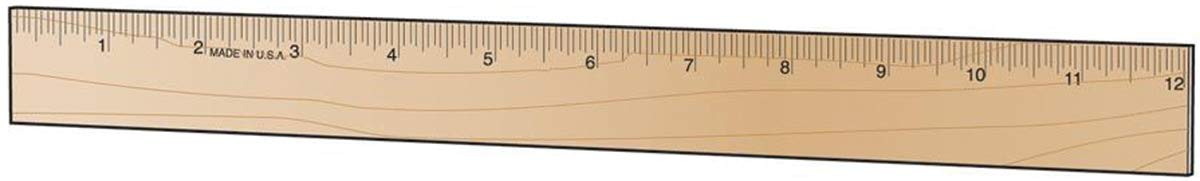 Wood Ruler 12 Inches (8 Pack)