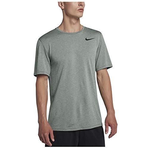 Top Short Training Sleeve (NIKE Men's Dri-Fit Breathe Short Sleeve Training Top-Clay Green-Medium)