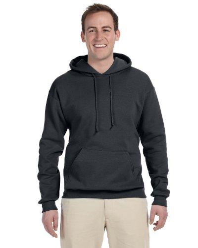 Jerzees 8 oz. NuBlend 50/50 Pullover Hood, Charcoal (50/50) - Large