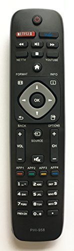 USBRMT NEW REMOTE PHI-958 FOR PHILIPS SMART TV URMT39JHG003 YKF340-001 YKF340001 by USBRMT