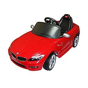 bmw z4 kids 6v electric ride on toy car w parent remote control red