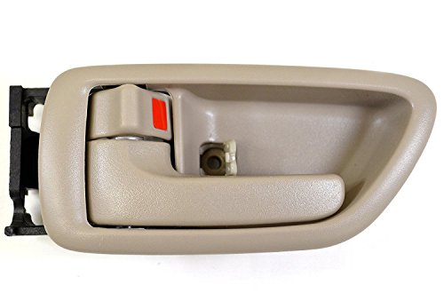 Eynpire 8017 Left Driver Side Interior Inside Door Handle Beige/Tan Crew Cabs For 2001-2007 Toyota Sequoia; 2004-2006 Toyota Tundra (Double Cab ONLY)