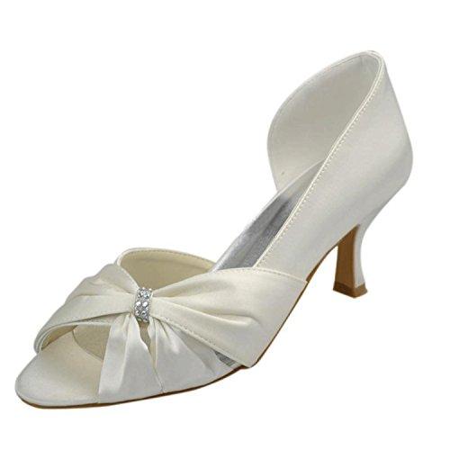5cm pour Escarpins Heel White Minitoo blanc femme 6 qYqOn51