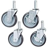 """Set of 4 Shelving Stem Caster with 3"""" Polyurethane Wheels by L&J Import"""