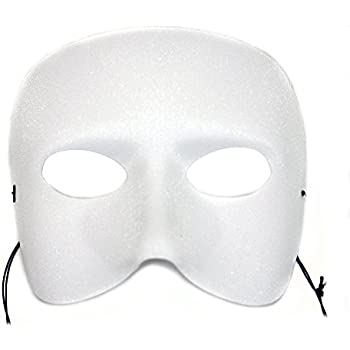 Casanova White Classic Men's Masquerade Mask