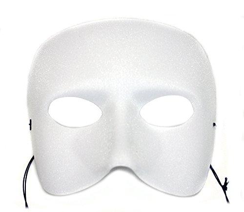 Success Creations Casanova Men's Masquerade Mask White]()