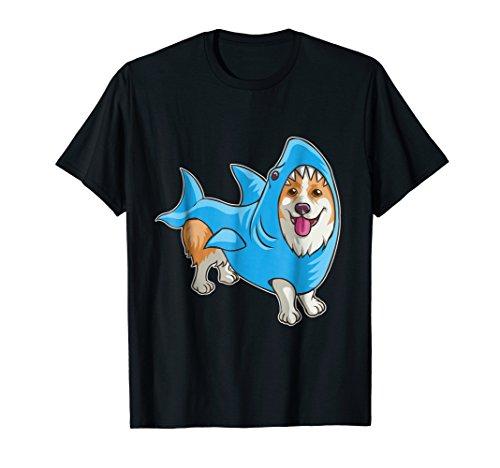 Shark Corgi Shirt Funny Dog Suit Puppy Great White Gift ()