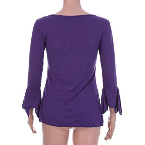 Vetement Top Chic Blouse Taille Femme Grande Violet Elegant Ete Cher Femme S~5XL Fille DAY8 Haut Soiree Femme Shirt Casual Pas Sport Mode Printemps Chemise Femme Fashion Femme Vetement T SqWwY58