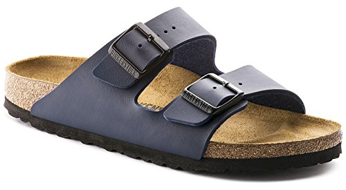 Arizona Cork Footbed Womens Sandal, Synthetic Birko-Flor Upper, Dark Blue [New Style]