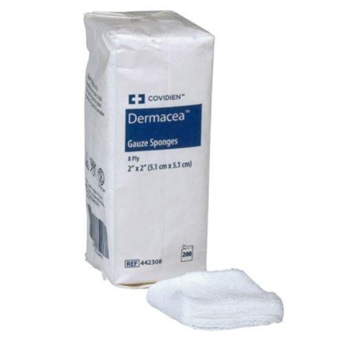 Covidien 441215 Dermacea Gauze Sponges, 12-Ply, 4