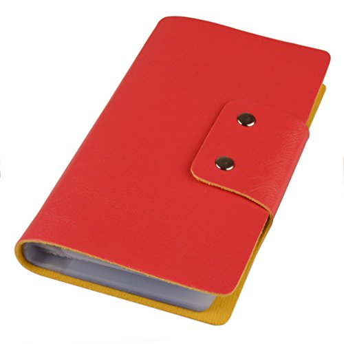 Leatherette Business Card / Credit Card Organizer Book - 40 Cell - 80 Card - Neat Card Business