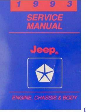 1993 Jeep Cherokee Wrangler Service Shop Repair Manual Engine Chassis Body OEM (Cherokee Engine)