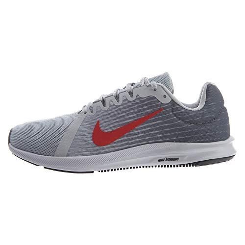 Nike Men's Downshifter 8 Running Shoe (9.5 M US, Pure Platinum/Habanero RED) ()