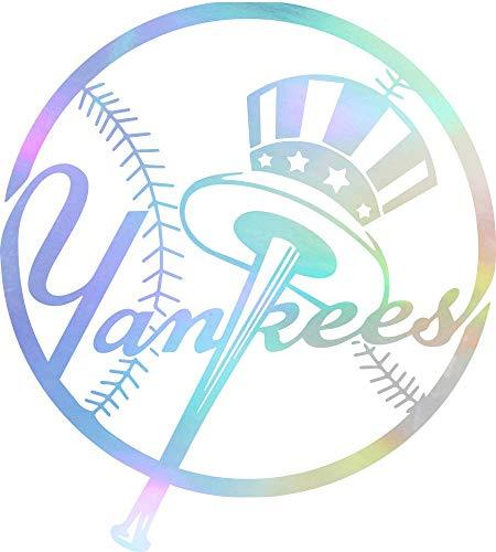 NBFU DECALS MLB New York Yankees Logo 2 (Hologram) (Set of 2) Premium Waterproof Vinyl Decal Stickers for Laptop Phone Accessory Helmet CAR Window Bumper Mug Tuber Cup Door Wall Decoration ()