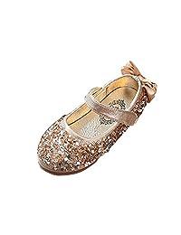 AMUR LEOPARD Kids Girls Mary Jane Shoes Dance Sequins Flower Wedding Princess Shoes(Toddler/Little Kid)