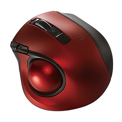 Nakabayashi Co,Ltd. Digio2 Bluetooth Wireless Trackball for Window PC and Mac and Android (Red)