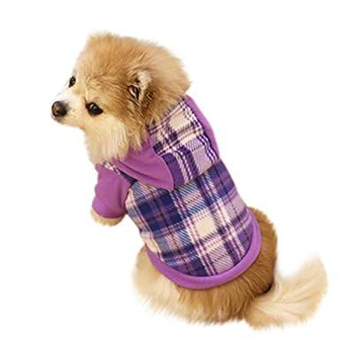 Howstar-Dog Pet Clothes for Puppy Cat Hoodie Warm Fleece Sweatshirt Winter Sweater Coat Apparel
