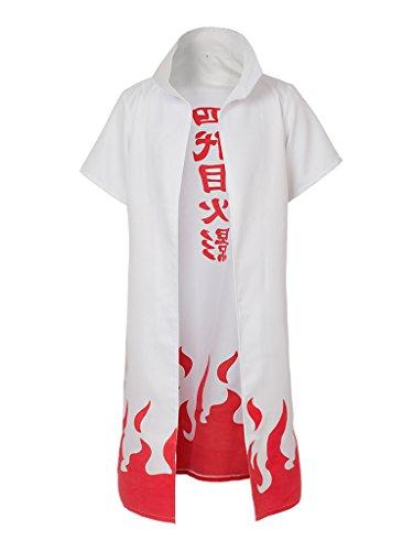 CosFantasy Naruto Namikaze Minato Cosplay Costume Cape mp002567 (S)