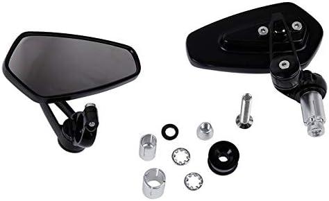 "Motorcycle Sportbike 7//8/"" Handle Bar End Mirrors For KTM Duke  690 390 125 BK"