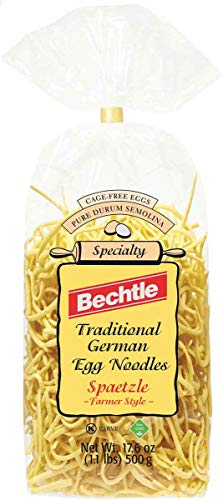 Bechtle Spaetzle (Traditional German Egg Noodles) Farmers Style, 17.6-Ounce Bags (Pack of 12)