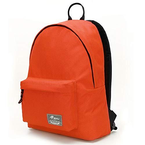 Classic Backpack for School College Student Travel Women Men Boys Girls Unisex Casual Daypack Bookbag Labtop Computer Bag (Orange)