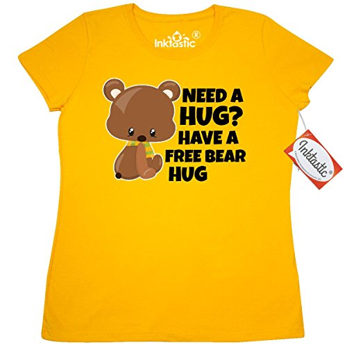 Inktastic Free Bear Hug with Bear Clip Art Women's T-Shirt Medium (Bears Clipart)