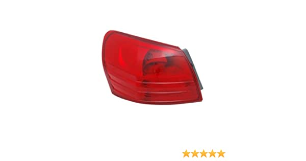 for 2008-2015 Nissan Rogue Rear Tail Light Lamp Assembly // Lens // Cover Go-Parts Side 26550-JM00A NI2801183 Replacement 2009 2010 2011 2012 2013 2014 Passenger Right