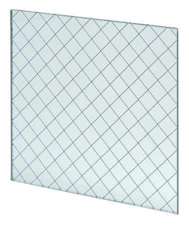 Fire Rated Wired Glass, 23inx29in by National Guard