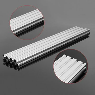 Linear Motion Aluminum Profiles - 350mm/500mm Length 2080 T-Slot Aluminum Profiles Extrusion Frame For (500mm) - 1 x 2080 T-Slot Aluminum Profiles Extrusion Frame