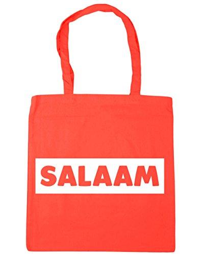 10 Tote Salaam Gym x38cm Bag Beach Shopping litres 42cm Coral HippoWarehouse Z1xqO8O