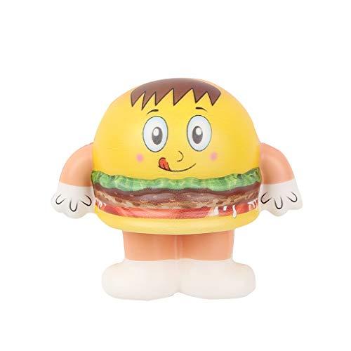 NOMENI Decompression Toy Burger Slowly Rising hot Dog Toy Toy Mini Cute Kawaii Easter Basket Doll Slowly Rising Pressure]()