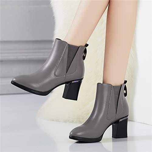 Yukun Schuhe mit hohen Absätzen Weibliche Wilde Einzelne Schuhe Weibliche Herbst Stiefel Frauen Pu High Heel Frauen Schuhe