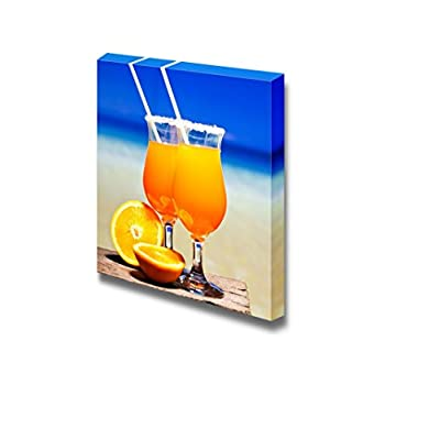 Created Just For You, Stunning Design, Still Life Tequila Sunrise Cocktail on Wooden Planks Wall Decor