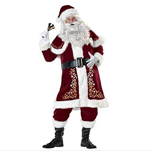 Disfraz de Papá Noel para Adultos, 5 Piezas, Disfraz de Papá Noel