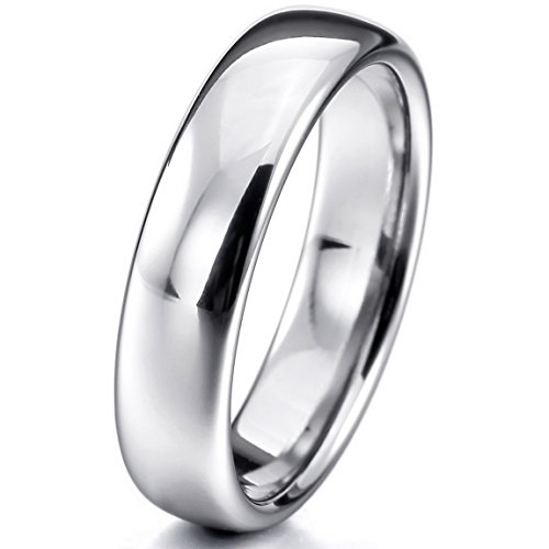 INBLUE Tungsten Silver Comfort Wedding