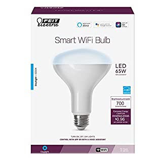 "Feit Electric BR30/950CA/AG 65W Equivalent WiFi Dimmable, No Hub Required, Alexa Bulb or Google Assistant LED BR30 Reflector, 5"" H x 3.72"" D, 5000K Daylight"