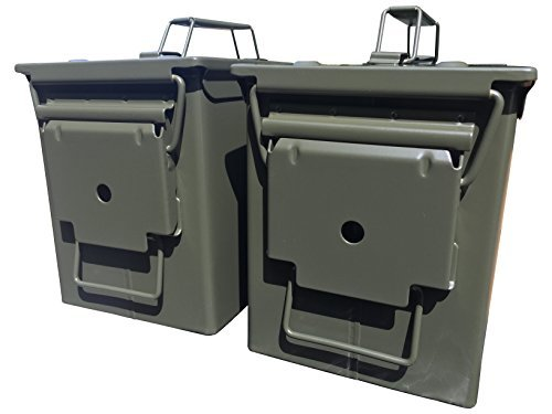 Two-Pack Mil Spec 50 Cal M2A1 Ammo Cans storage container