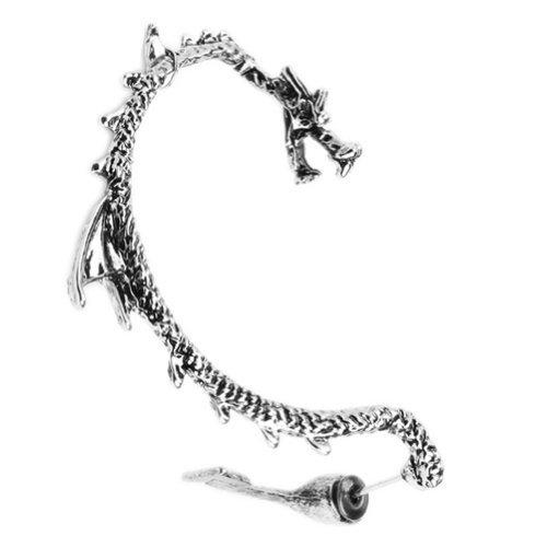 Gothic Earring Dragon, Finish Ear Cuff, Dragon Punk Rock Earring - England Right Ear BodyJ4You FFJ9023-CL