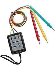 Phase Indicator, 3 Phase Indicator LED Light Display Digital Phase Indicator Buzzer Indication for Industry