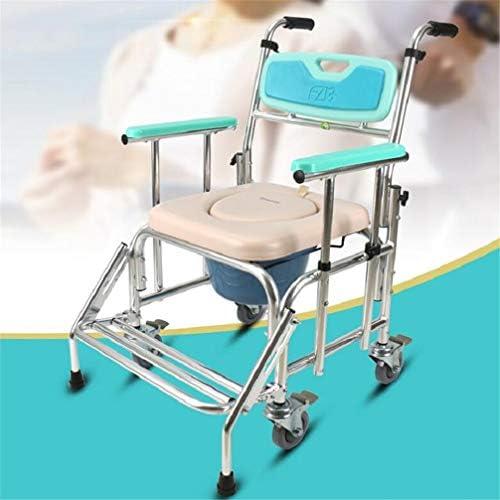 Bbhhyy Toilettenstuhl Alter Mann Mit Rädern Klobrille Lift Armlehne Klobrille Pflegestuhl Behinderte Rollstuhl