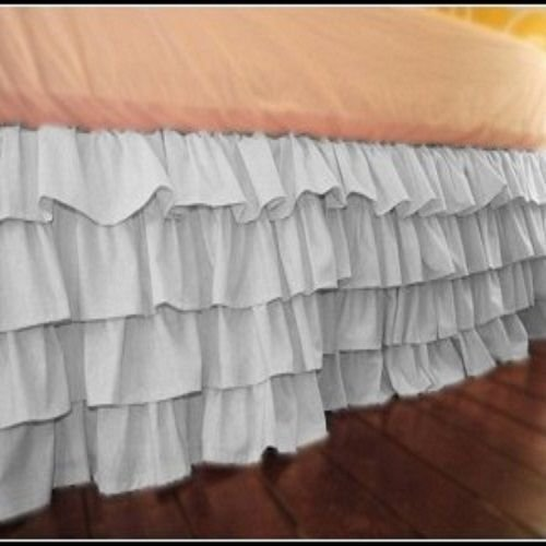 BED SKIRT BRICK RED SOLID SELECT DROP LENGTH ALL US SIZE 1000 TC EGYPTIAN COTTON