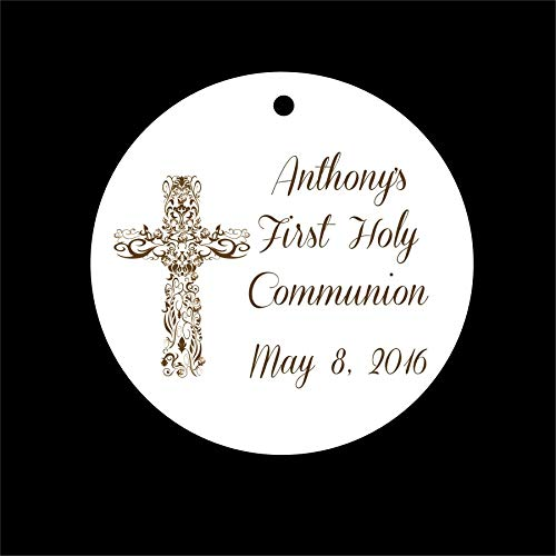Set of 10 Boy or Girl Communion, Baptism, Christening Favor Tags Party Tags - All Wording Customized