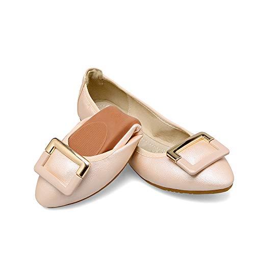FLYRCX Zapatos Casuales cómodos cómodos de Las señoras Zapatos Planos Plegables Zapatos portátiles del Viaje Que doblan los Zapatos de Ballet D