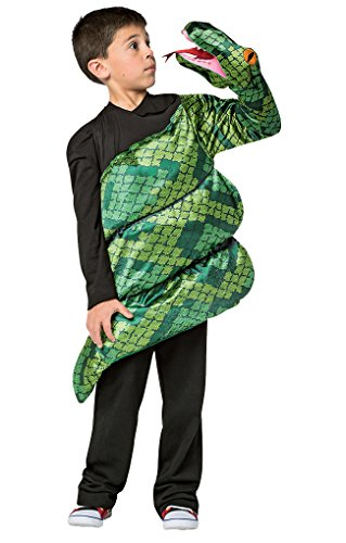 Faerynicethings Child Size Anaconda Costume - Creatures of The Forest - Snake Puppet