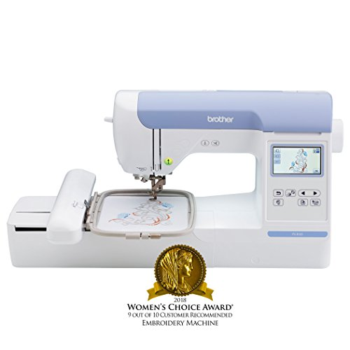Brother Embroidery Machine, PE800 5' x 7, with Color Touch LCD Display, USB Port, 11 Lettering Fonts, and 138 Built-In Designs