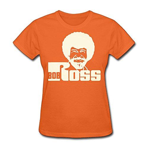 Bob Ross Wallet (Bob Ross,cute Roundneck Orange T-shirt For Women - XXL)
