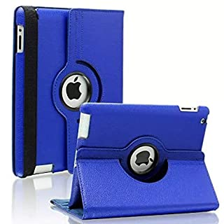DarkBlue 360 Degrees Rotating Stand Leather Case for Ipad 2/3 2nd/3nd Generation