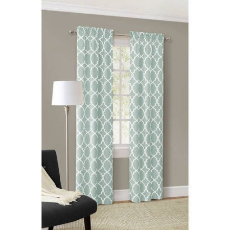 56''X 63'' Window Curtain Calix Fashion in Spa Color, Set of 2